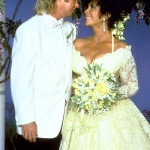 Elizabeth and Larry Fortensky at their wedding