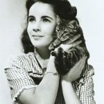 Elizabeth as a child with her cat