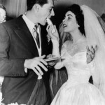 Elizabeth Taylor And Nicky Hilton at their wedding