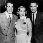 Joe Dimaggio, Marilyn and Cary Grant on the set of Monkey Business (1952)