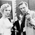 Marilyn and Laurence Olivier on the set of The Prince and the Showgirl