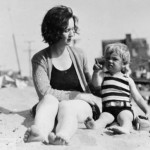 Marilyn as a toddler with her mother