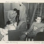 James Dean (right) in college