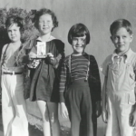 Little James Dean (right) with his friends