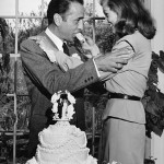 Bogie and Bacall on their wedding day