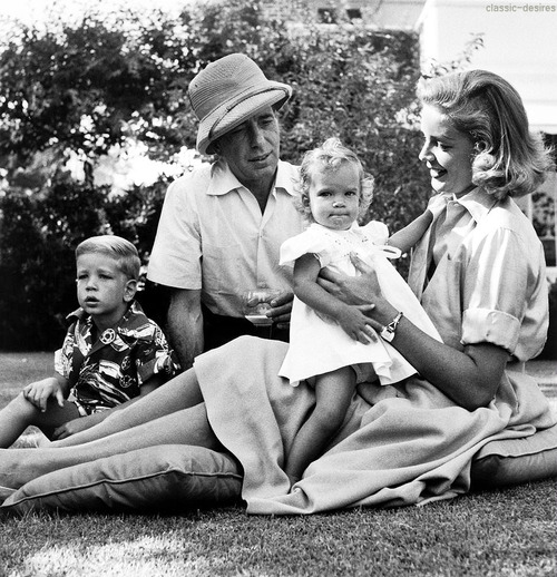 Humphrey Bogart and family