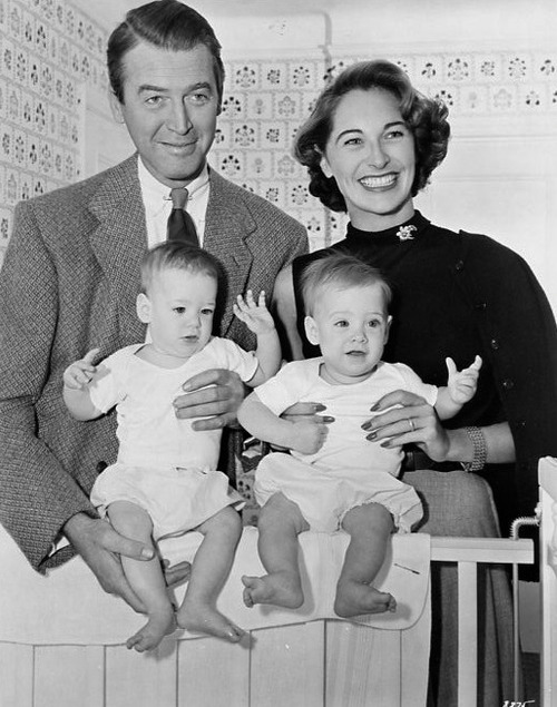James Stewart, Gloria and the twins