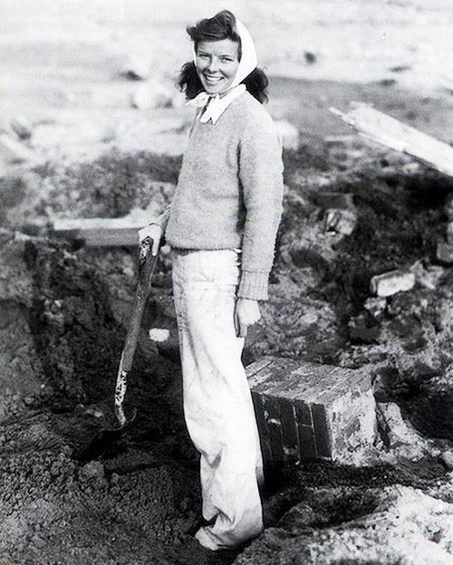 Katharine hepburn after Hurricane
