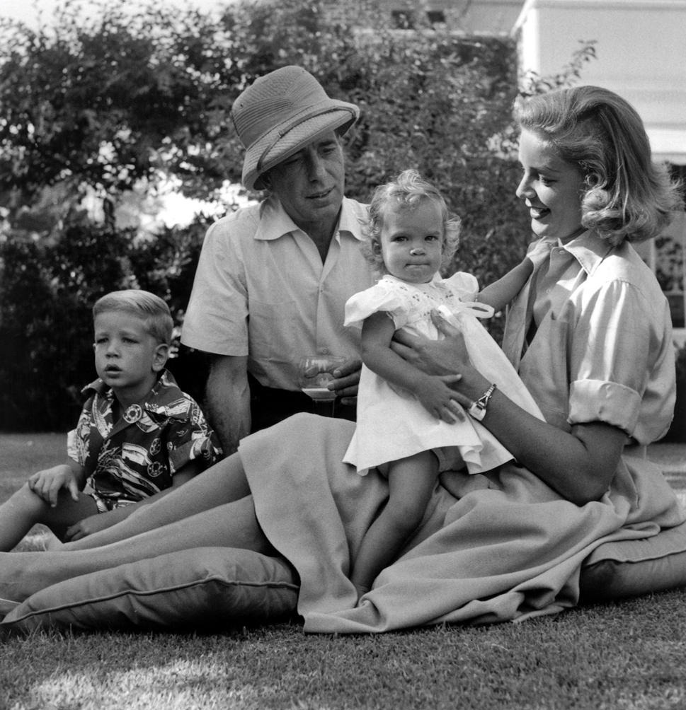 Bogie, Bacall and their children
