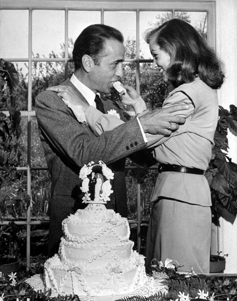 Bogie & Bacall wedding