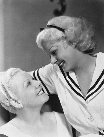 Jean Harlow Posing with Her Mother