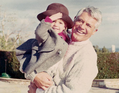 Cary and his daughter