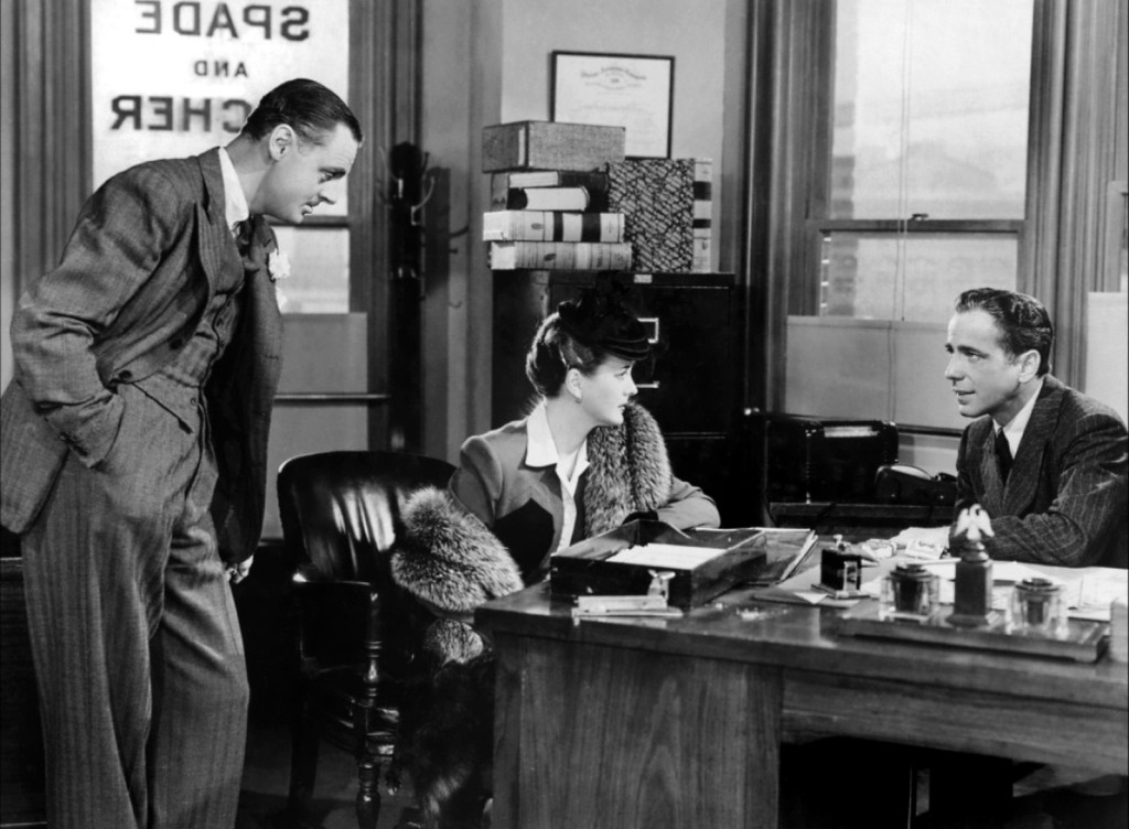 Bogart and Astor in The Maltese Falcon