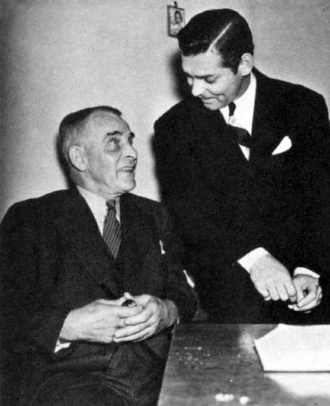 Clark Gable and his father