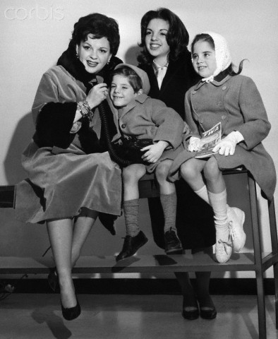 Actress Judy Garland Posing with Her Children