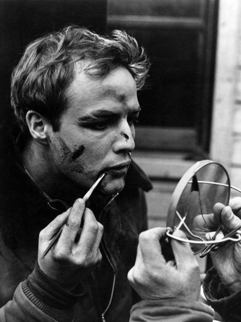 Marlon Brando on set