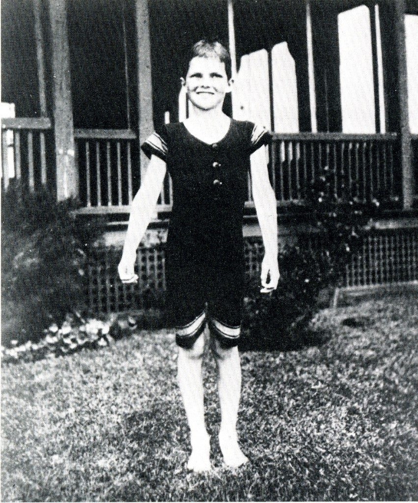 Katharine Hepburn as a child