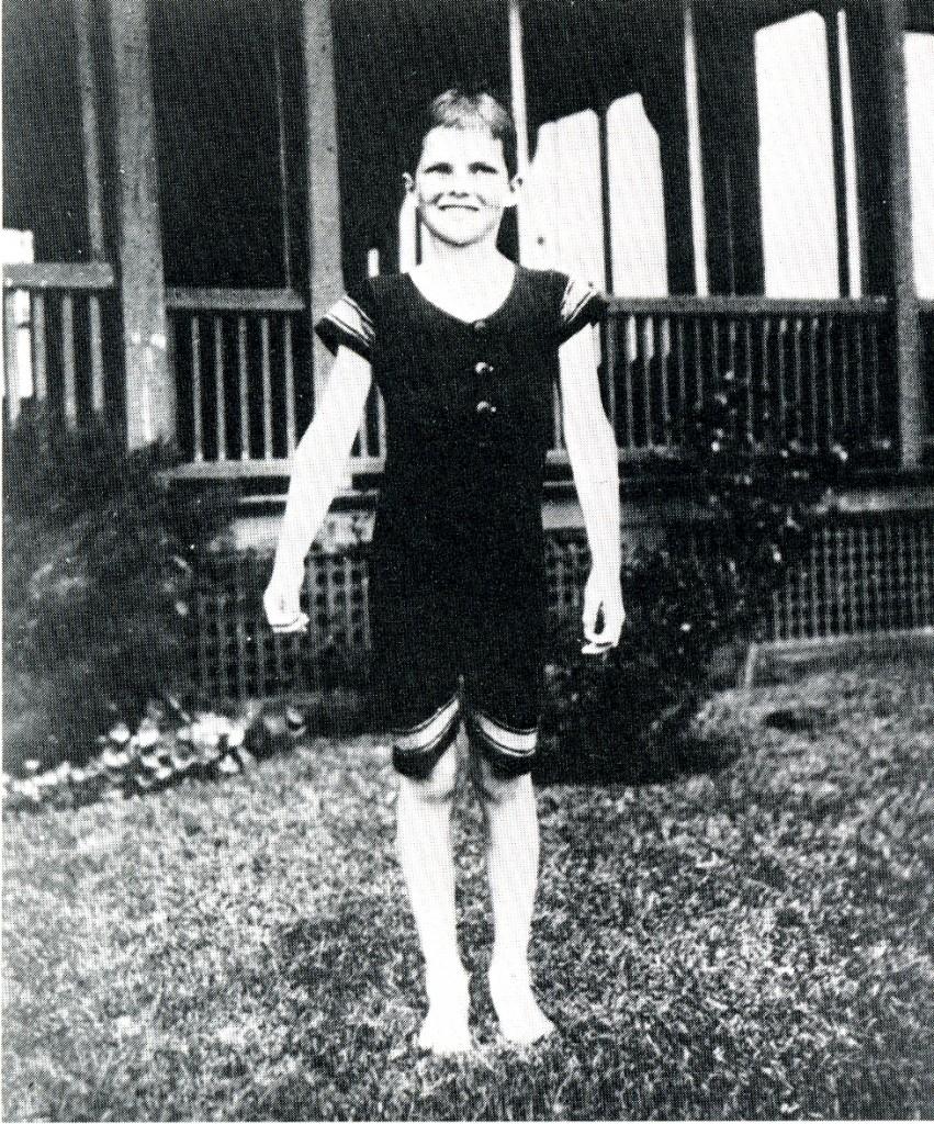 Katharine Hepburn as a child