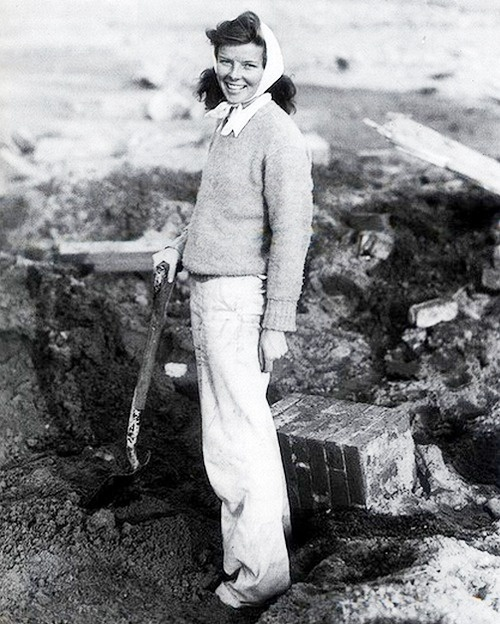 Katharine hepburn after Hurricane