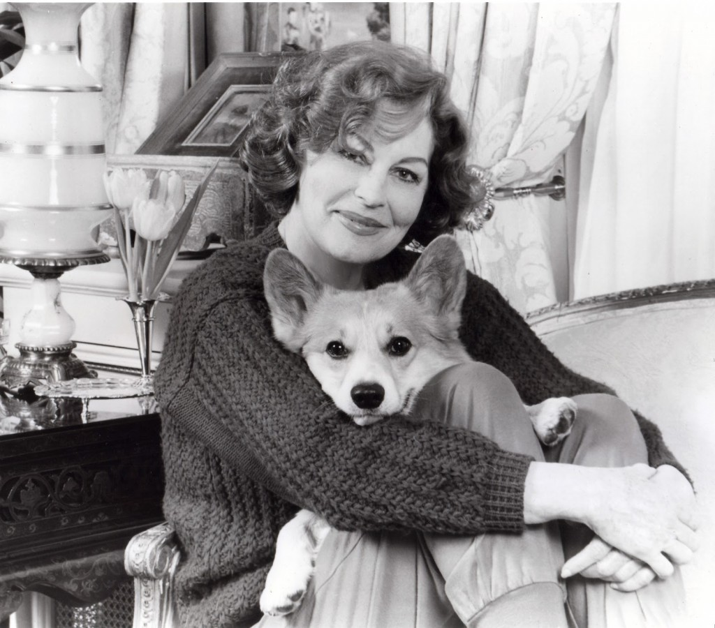 Ava Gardner and her Corgi