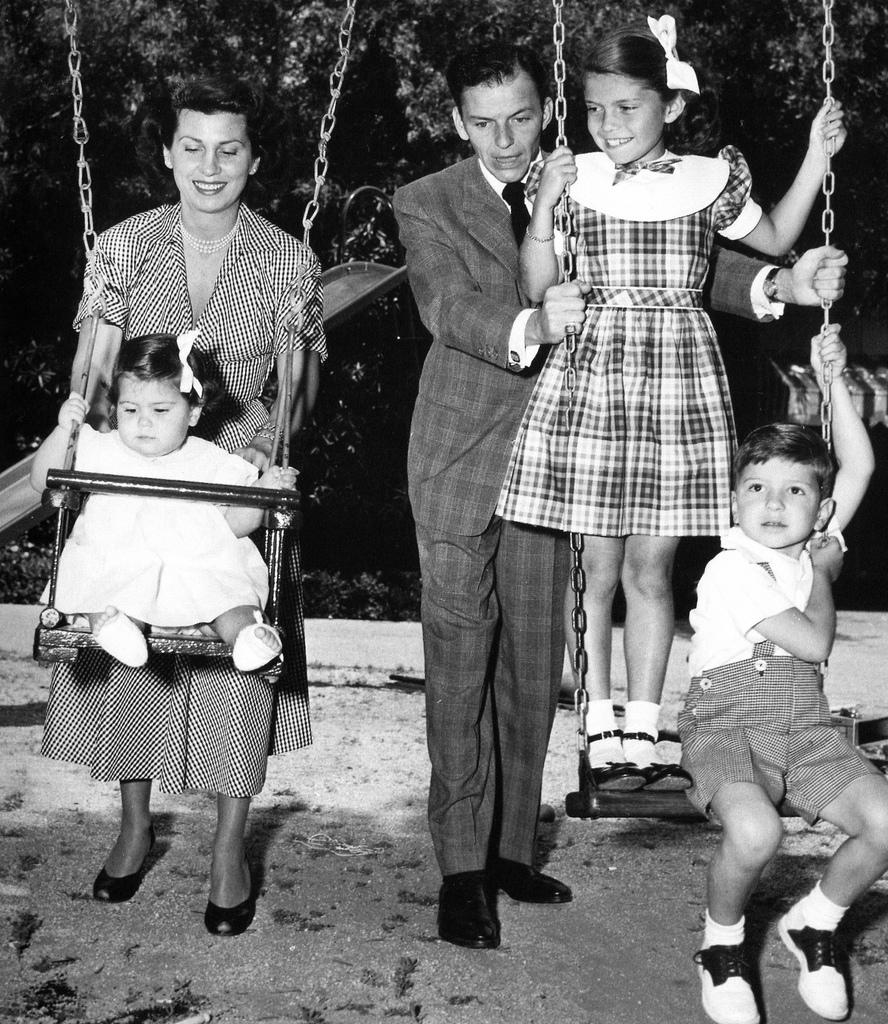 Frank Sinatra and family