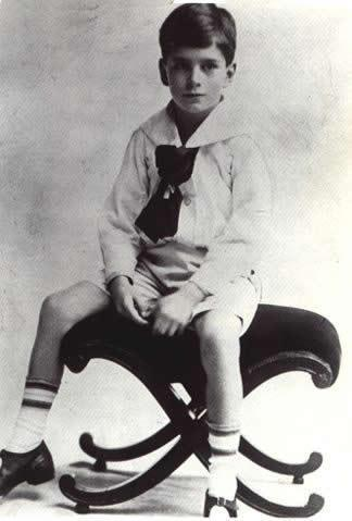 Laurence Olivier as a child