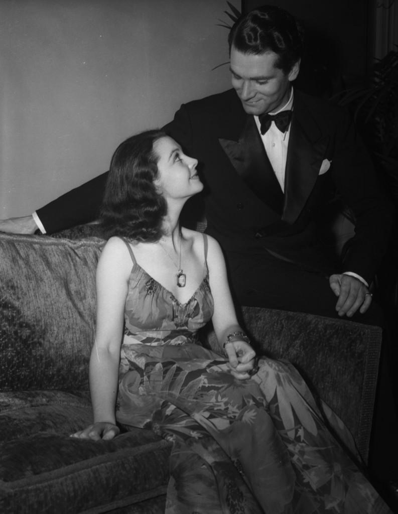 Laurence Olivier Admiring Vivien Leigh