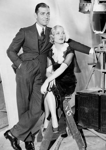 Clark & Carole on set